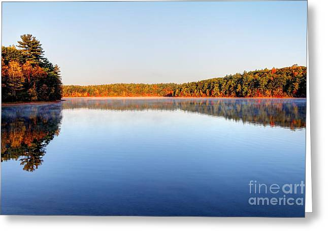 Walden Pond Photographs Greeting Cards - Autumn on Walden Pond Greeting Card by Denis Tangney Jr