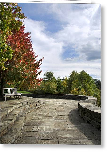 Finger Lakes Greeting Cards - Autumn Overlook Greeting Card by Christina Rollo