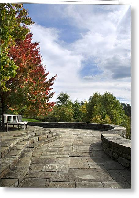 Autumn Overlook Greeting Card by Christina Rollo