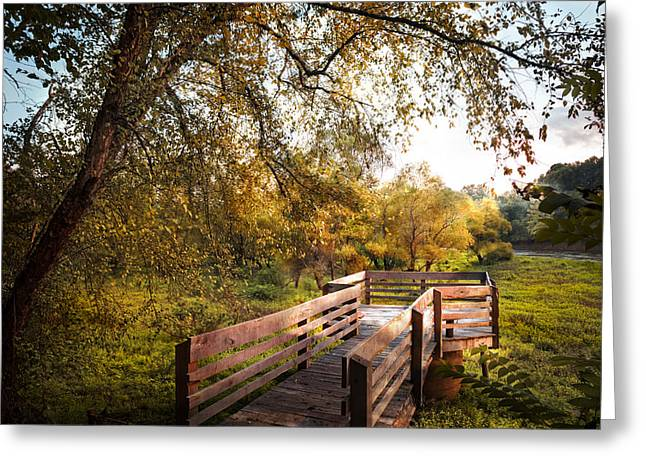 Autumn In The Country Greeting Cards - Autumn Overlook Greeting Card by Debra and Dave Vanderlaan