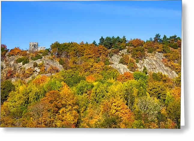 Autumn Scenes Greeting Cards - Autumn Panorama Greeting Card by Lutz Baar