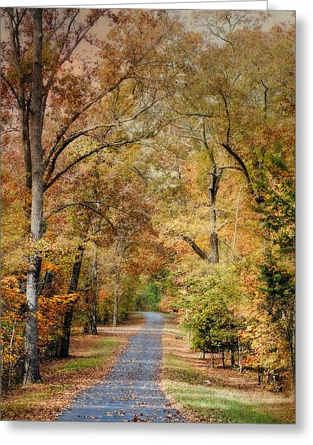 Fall Scenes Greeting Cards - Autumn Passage 2 - Fall Landscape Scene Greeting Card by Jai Johnson