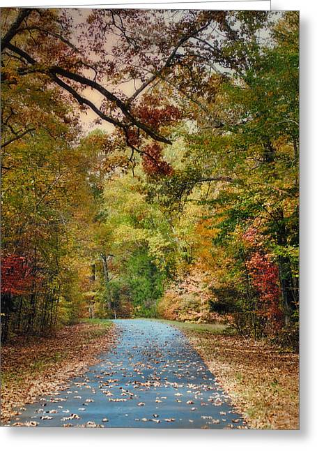 Fall Scenes Greeting Cards - Autumn Passage 3 - Fall Landscape Scene Greeting Card by Jai Johnson