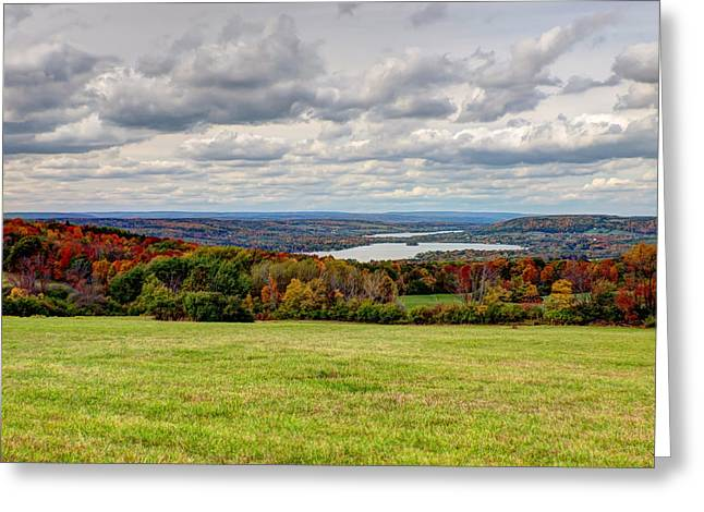 Schuyler County New York Greeting Cards - Autumn Pastures Autumn Lakes Greeting Card by Joshua House
