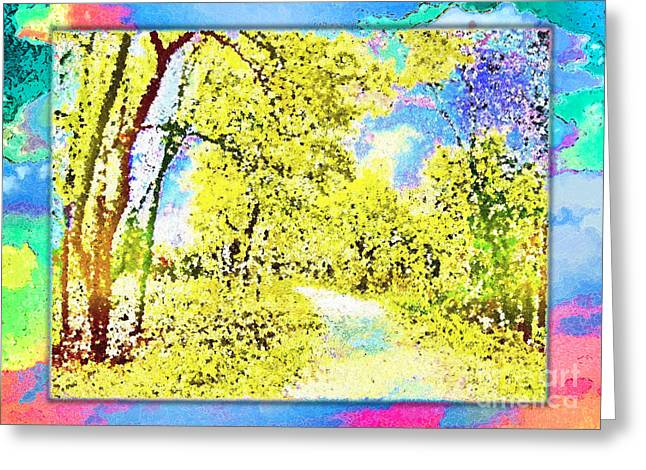Autum Abstract Greeting Cards - Autumn Path Greeting Card by Ed Churchill