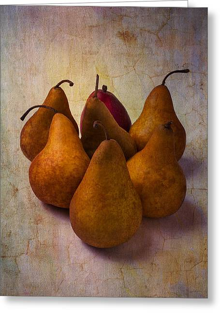 Edible Greeting Cards - Autumn Pears Greeting Card by Garry Gay