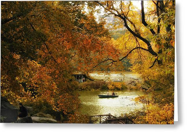 Fall Trees Greeting Cards - Autumn Perspective Greeting Card by Jessica Jenney