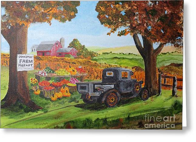 Autumn Pleasures Greeting Card by Jack G  Brauer