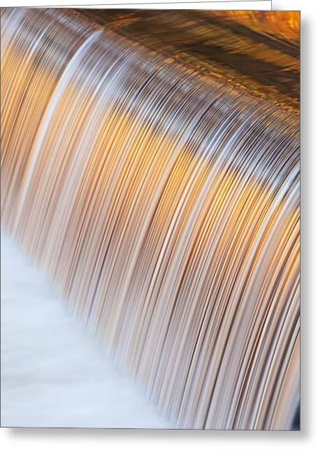 Autumn Portage Creek Cascade Greeting Card by Dean Pennala