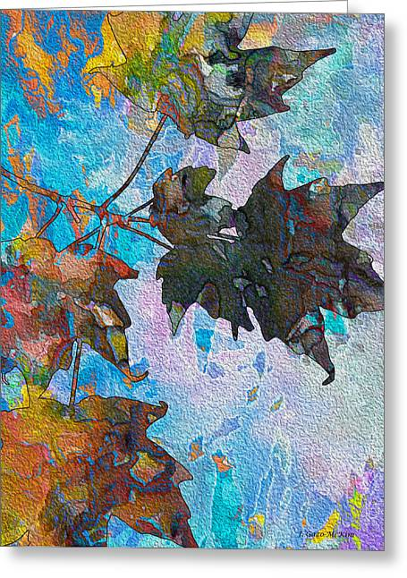Autumn Colored Quilts Greeting Cards - Autumn Quilt Greeting Card by Jo-Anne Gazo-McKim
