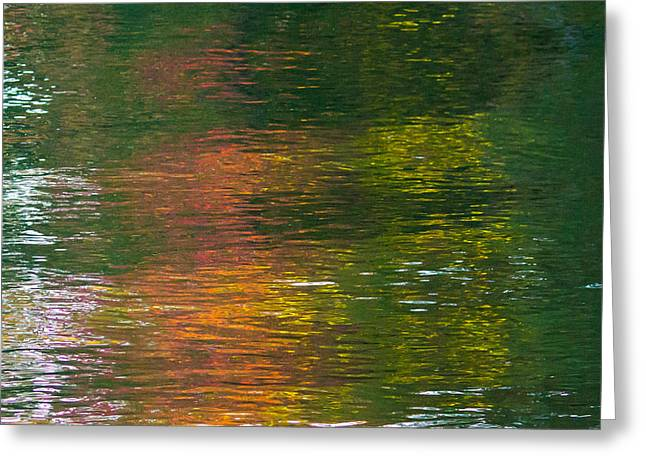 Fall Colors Greeting Cards - Autumn Reflection 3 Greeting Card by Pauline Brock