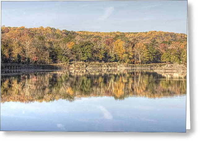 Francis Greeting Cards - Autumn Reflection On Maryland Canal Greeting Card by Francis Sullivan