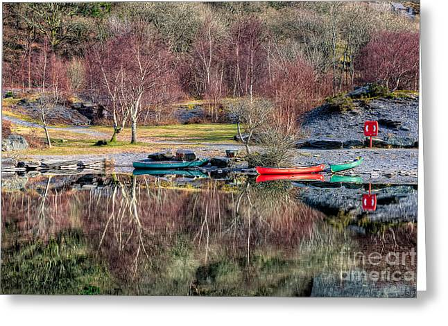 Autumn Reflections Greeting Card by Adrian Evans