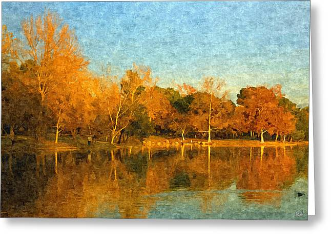 Yorba Greeting Cards - Autumn Reflections Greeting Card by Angela A Stanton