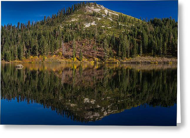 Castle On Mountain Greeting Cards - Autumn Reflections at Castle Lake Greeting Card by Greg Nyquist