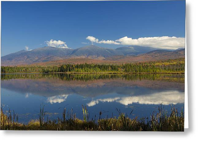 Fall Scenes Greeting Cards - Autumn Reflections at Cherry Pond Greeting Card by Christopher Whiton