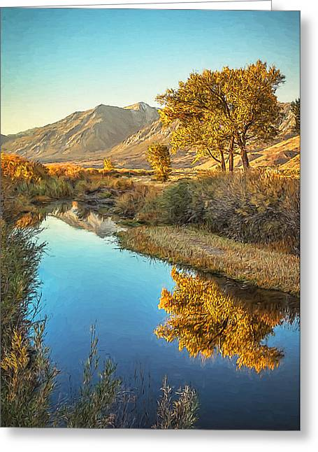 Siera Nevada Greeting Cards - Autumn Reflections Greeting Card by Maria Coulson