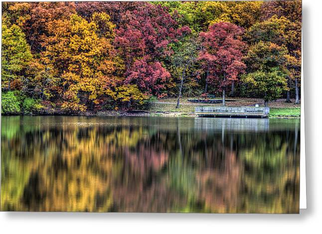 Indiana Autumn Greeting Cards - Autumn Reflections Greeting Card by Scott Wood