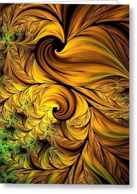 Autumn Returns Abstract Greeting Card by Georgiana Romanovna