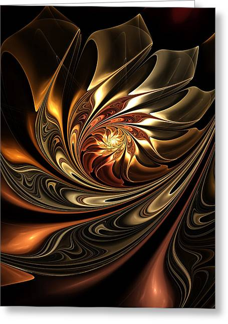 Youthful Greeting Cards - Autumn Reverie Abstract Greeting Card by Georgiana Romanovna