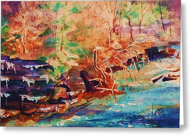 Tree Roots Greeting Cards - Autumn Reverie Greeting Card by Ellen Levinson