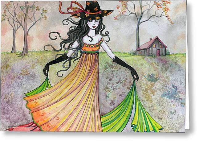 Autumn Reverie Greeting Card by Molly Harrison
