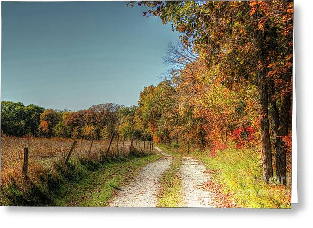Fenceline Greeting Cards - Autumn Ridge Greeting Card by Thomas Danilovich