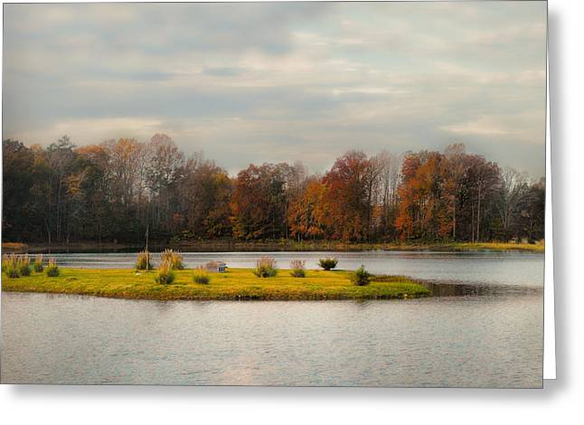 Fall Scenes Greeting Cards - Autumn Rising At The Duck Pond - Autumn Scene Greeting Card by Jai Johnson