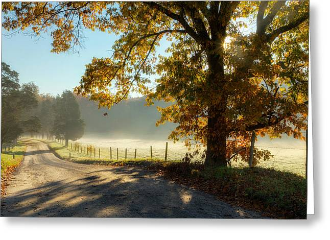 Southern New England Greeting Cards - Autumn Road Greeting Card by Bill  Wakeley