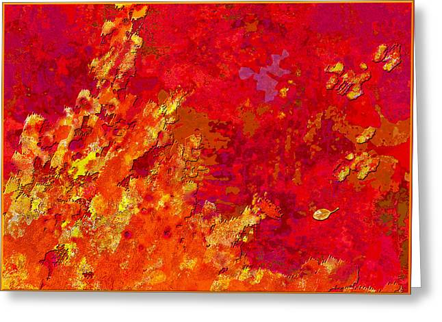 Abstract Movement Greeting Cards - Autumn Romance I Greeting Card by Mathilde Vhargon