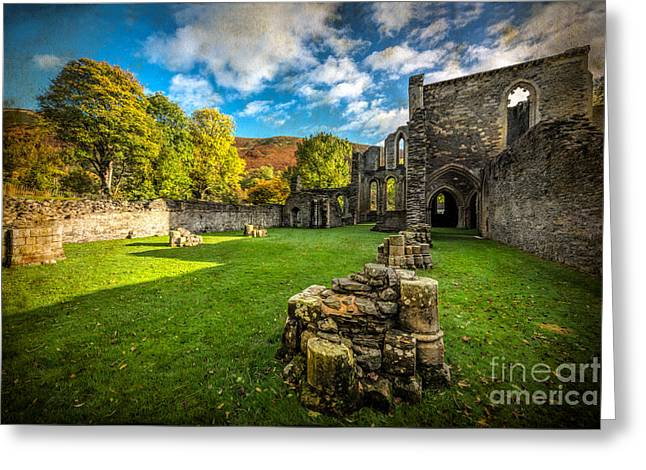 Autumn Ruins Greeting Card by Adrian Evans
