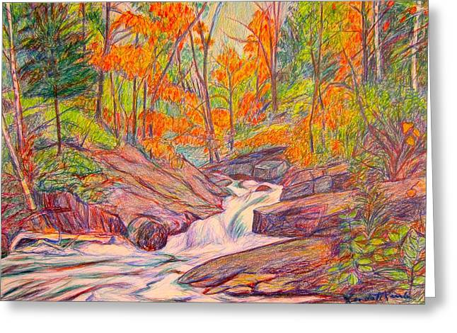Autumn Rush Greeting Card by Kendall Kessler