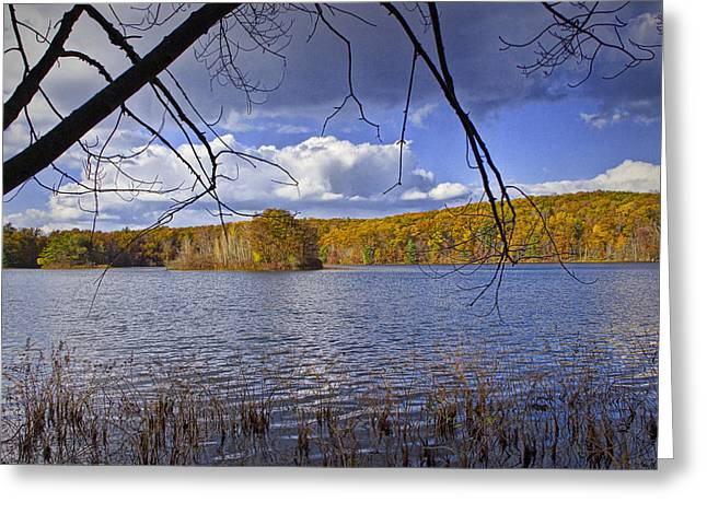Autumn Photographs Greeting Cards - Autumn Scene from the Lakeshore Greeting Card by Randall Nyhof
