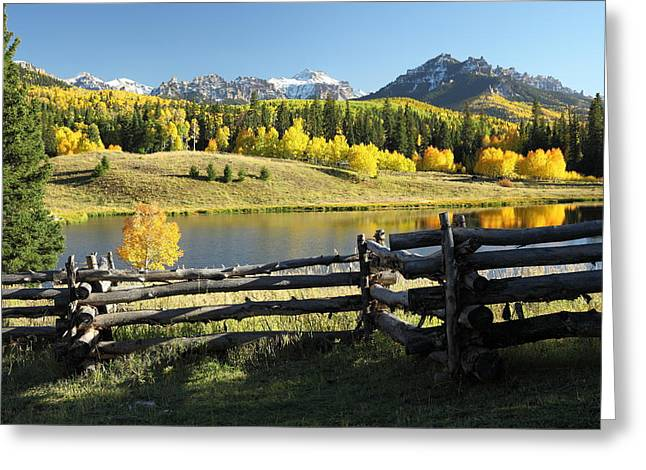 Mountain Fork Creek Greeting Cards - Autumn Serenade Greeting Card by Eric Glaser