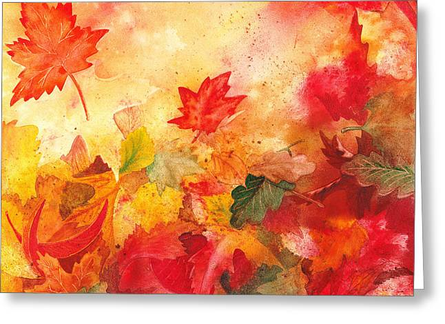 Fall Scenes Greeting Cards - Autumn Serenade  Greeting Card by Irina Sztukowski
