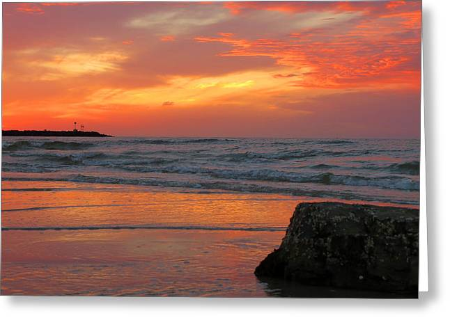 Dennis Ma Photographs Greeting Cards - Autumn Sesuit Sunset Greeting Card by Dianne Cowen