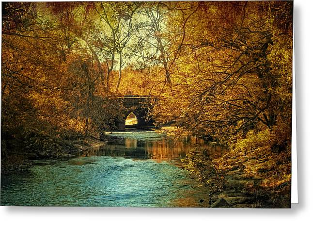 Autumn Landscape Digital Greeting Cards - Autumn Shimmer Greeting Card by Jessica Jenney