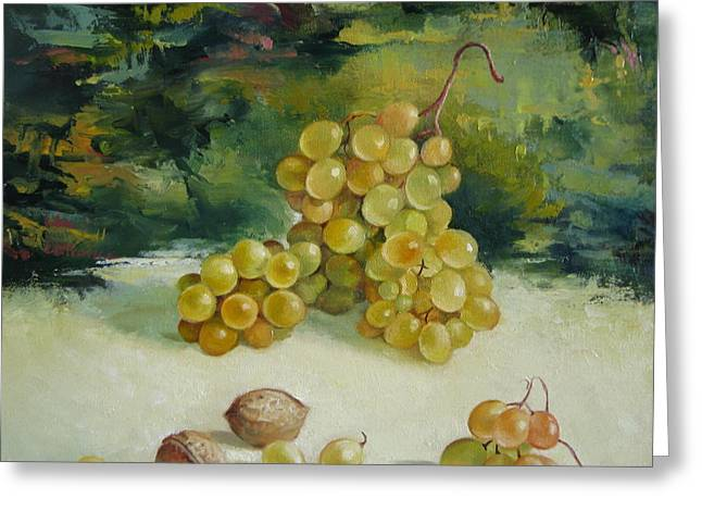 Grape Clusters Greeting Cards - Autumn signs Greeting Card by Elena Oleniuc