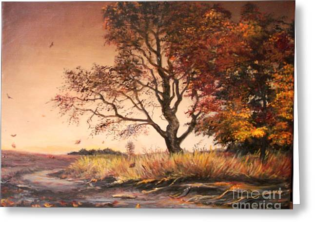 Landscape Framed Prints Greeting Cards - Autumn Simphony in France  Greeting Card by Sorin Apostolescu