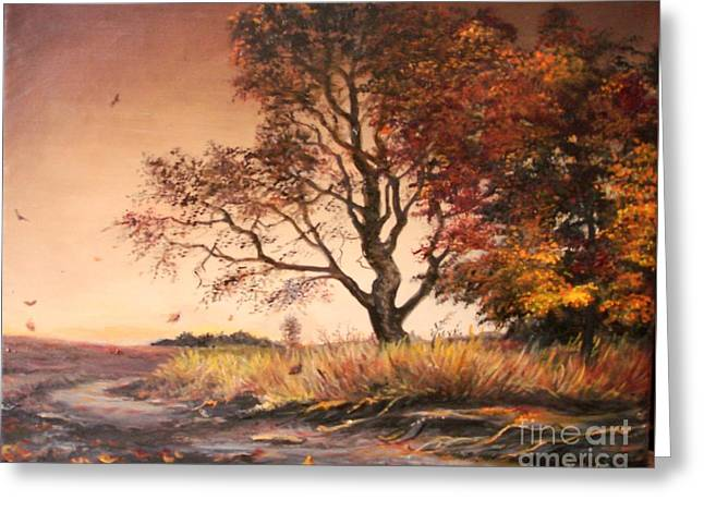 Landscape Posters Greeting Cards - Autumn Simphony in France  Greeting Card by Sorin Apostolescu