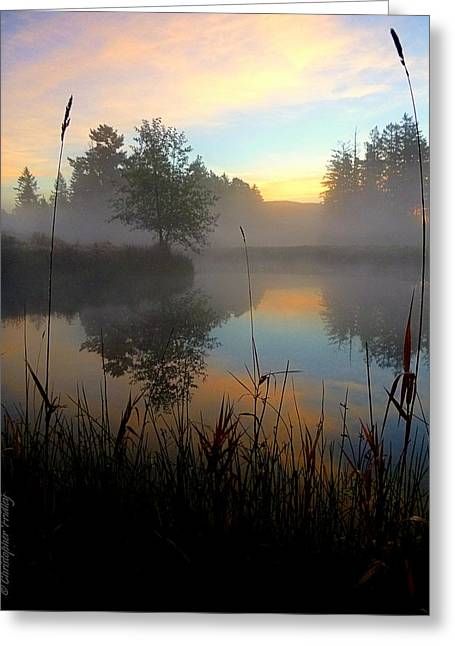 Christopher Fridley Greeting Cards - Autumn Sky Greeting Card by Christopher Fridley