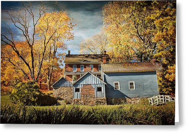 Out-building Greeting Cards - Autumn Smokehouse Greeting Card by Fran J Scott