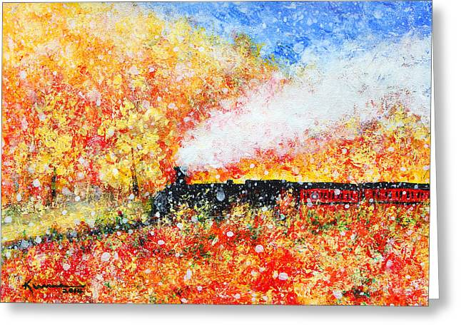 Autumn Snow Greeting Card by Kume Bryant