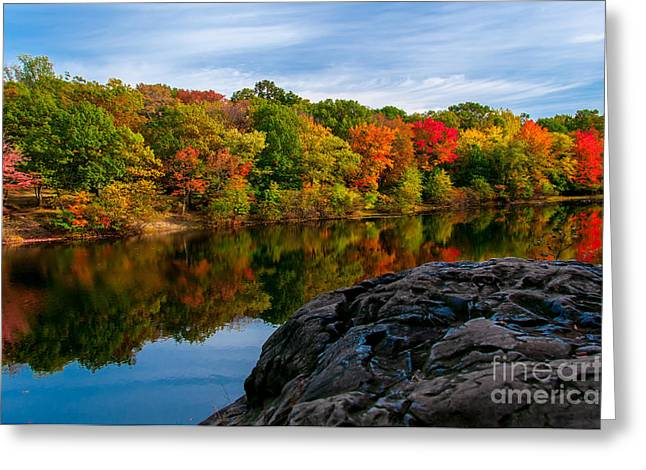 Foilage Greeting Cards - Autumn Solstice Greeting Card by Anthony Sacco