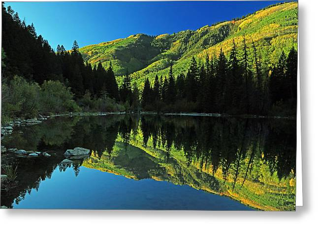 Marble Colorado Greeting Cards - Autumn splendor at Lizard Lake. Greeting Card by Johnny Adolphson