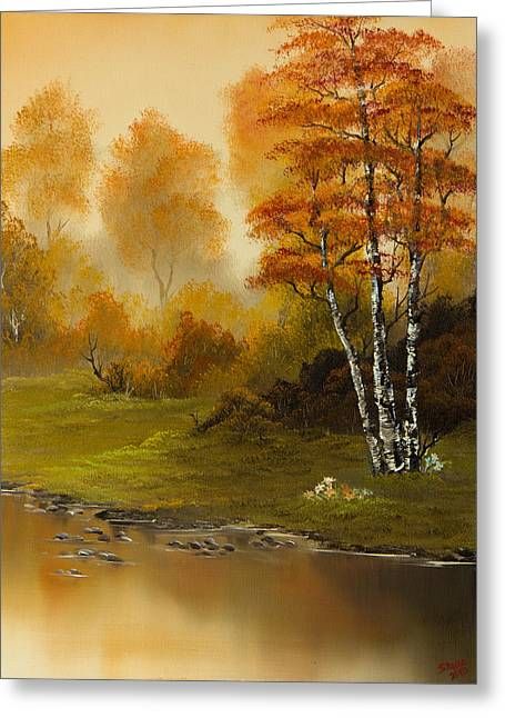 Bob Ross Paintings Greeting Cards - Autumn Splendor Greeting Card by C Steele