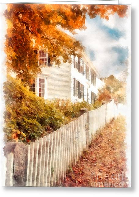 Deerfield Greeting Cards - Autumn Splendor Greeting Card by Edward Fielding