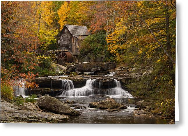 Recently Sold -  - Water Flowing Greeting Cards - Autumn Splendor Greeting Card by Gerald DeBoer