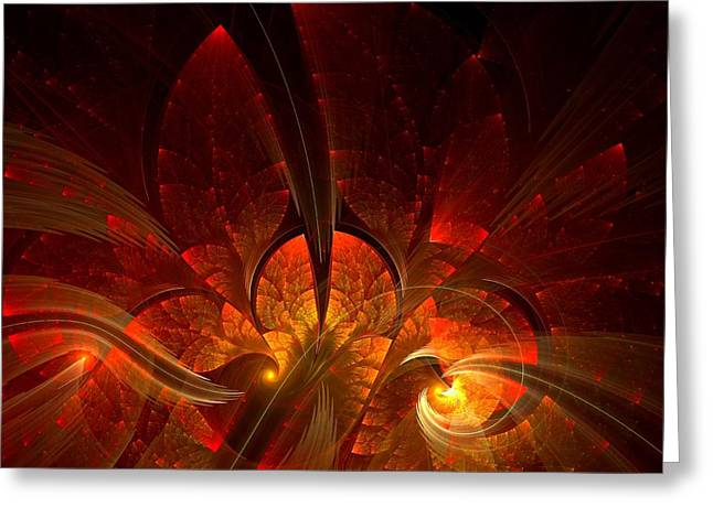 Lea Wiggins Greeting Cards - Autumn Splendor Greeting Card by Lea Wiggins