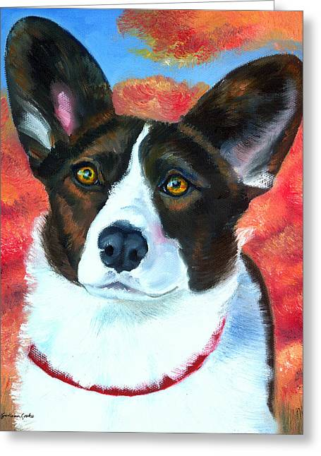 Puppies Greeting Cards - Autumn Splendor Greeting Card by Lyn Cook